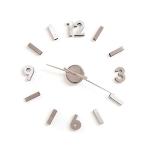 Modern, minimalistic, functional. This awesome wall clock is a must-have for those who love simplicity and function. The adhesive feature allows you to place your numbers anywhere. Designed for contemporary spaces- hands are chrome plated, and the numbers are aluminum. We receive so many great compliments about our wall clock on display at our Honolulu store, we'll ensure you the same will happen in your home. $89