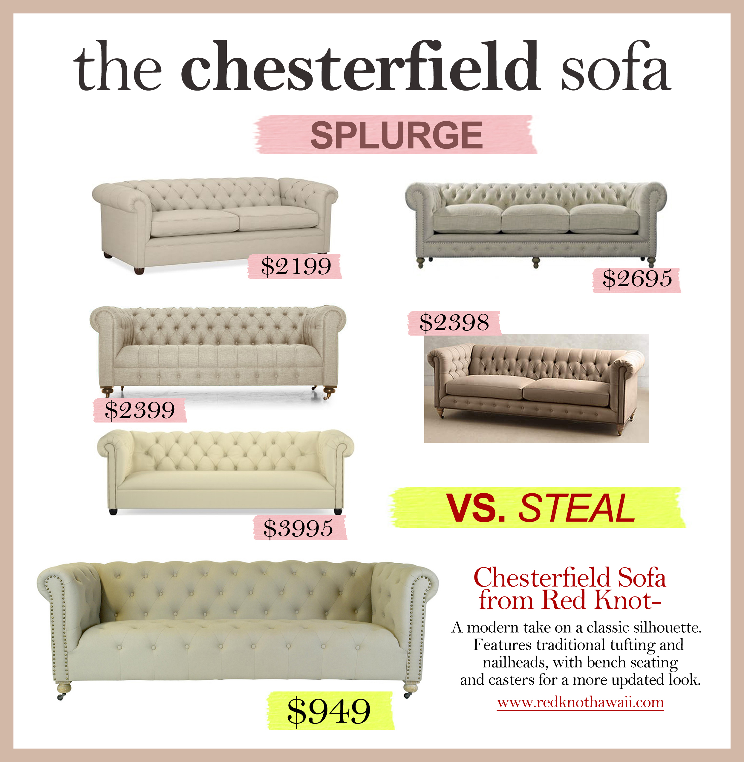 Get The Look for Less – The Chesterfield Sofa